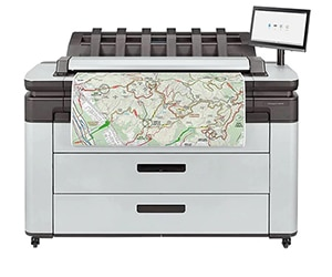 "HP DesignJet XL 3600dr Large Format Multifunction Dual-Roll PostScript® Printer - 36"", with Best-in-Class Security Features (90-day warranty: 6KD26A/6KD26F, 3-year warranty: 6KD26H)"