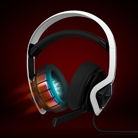 OMEN Mindframe Prime headset in white with animated ear cooling