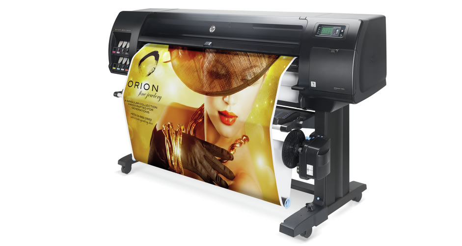 Gold jewelry ad on HP DesignJet Z6810 Printer