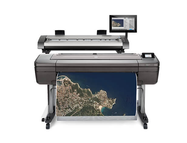 Front view of the HP DesignJet HD Pro Multifunction Printer with poster output