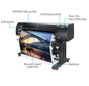 "BUNDLE: HP DesignJet Z6810 Large Format Photo Printer - 42"", with Spectrophotometer (2QU12A) & HP DesignJet 42"" Take-up Reel (CQ752A)"