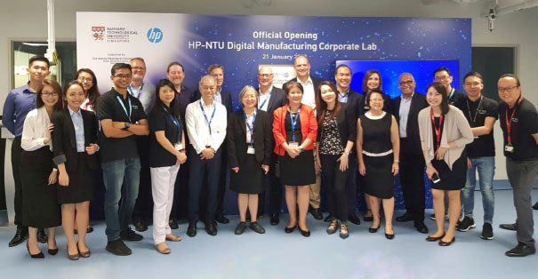 The HP-NTU Digital Manufacturing Lab officially opens