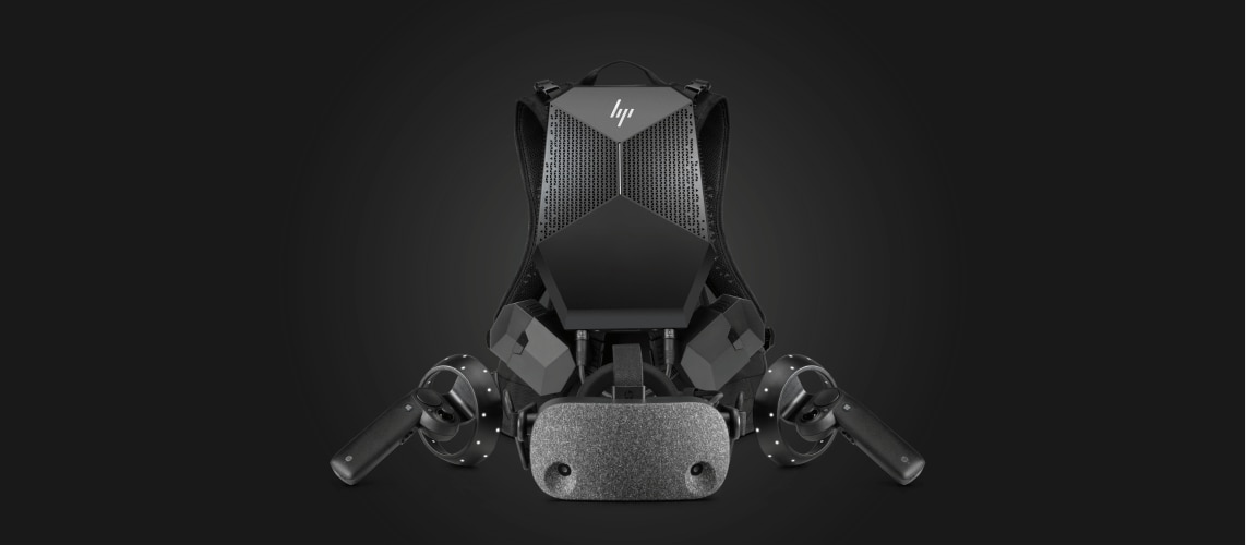 VR Backpack, headset and hand controls