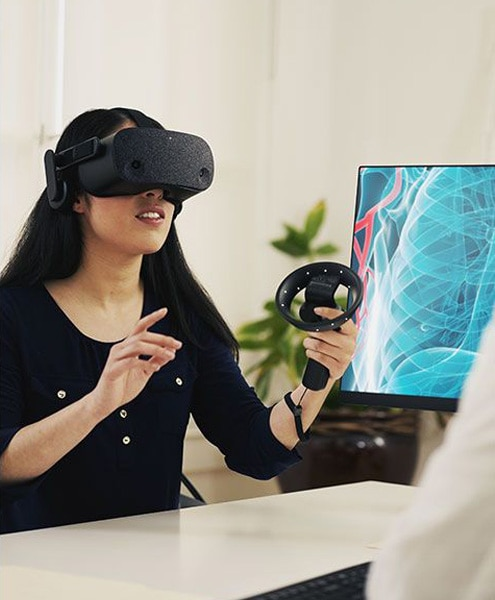 VR training for healthcare
