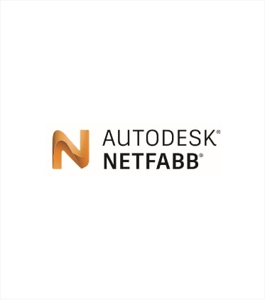 Company logo of Autodesk (registerd circle superscript) Netfabb (register circle superscript), representing integration with their industry leading 3D software