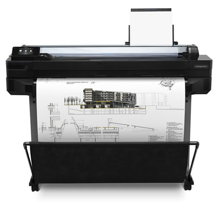 HP DesignJet T520 printer plotter series with architectural drawing output