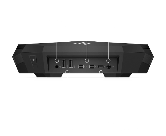 Top dock ports for HP VR backpack