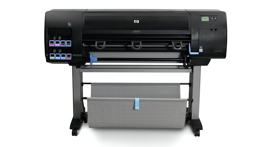 Front view of the HP DesignJet Z6200 Photo Production Printer
