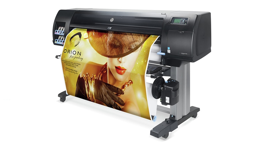 Side view of the HP DesignJet Z6800 Photo Production Printer