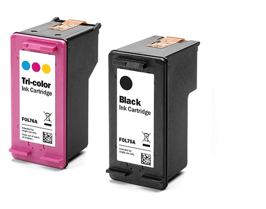 A four-color ink system provides optimal print quality and performance.