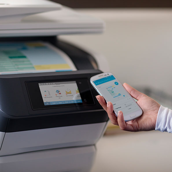 HP JetAdvantage Mobile Printing Solution in use