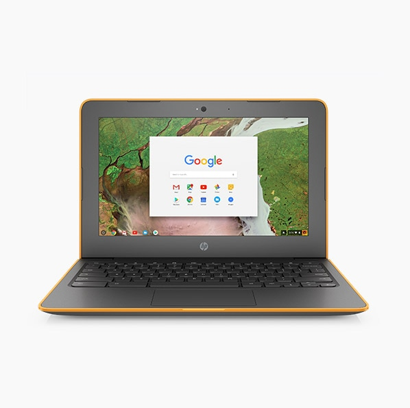 HP Chromebook 11 G5 Education Edition laptops open facing forward
