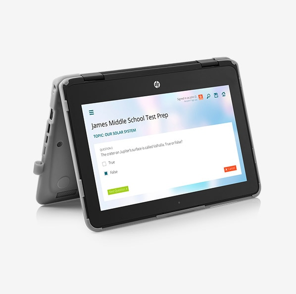 HP Chromebook x360 11 G1 Education Edition in tent mode