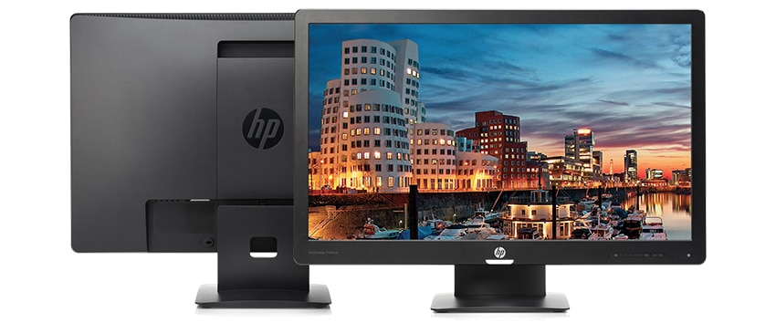 HP Pro Display monitors front and back
