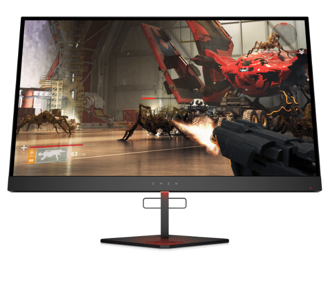 OMEN X 27 display with gameplay screen