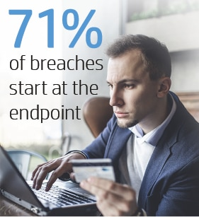 71% of breaches start at the endpoint
