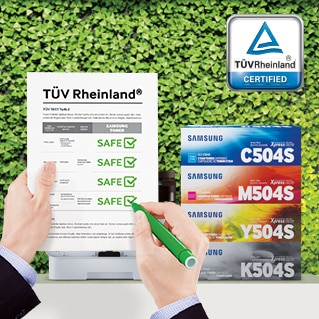 Certified Toner Cartridges by TÜV Rheinland®