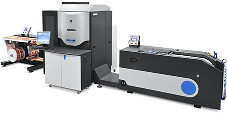 The entry level HP Indigo WS4600 digital press offers high-quality narrow web solutions for label production