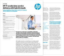 HP IT accelerates service delivery with hybrid clouds