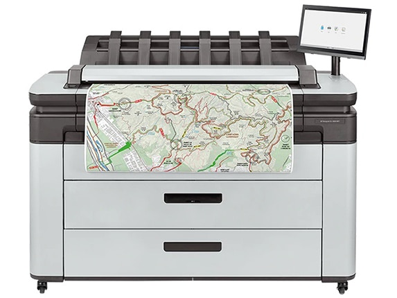 "HP DesignJet XL 3600 Large Format Multifunction PostScript® Printer - 36"", with Best-in-Class Security Features (90-day warranty: 6KD24A/6KD24F, 3-year warranty: 6KD24H)"