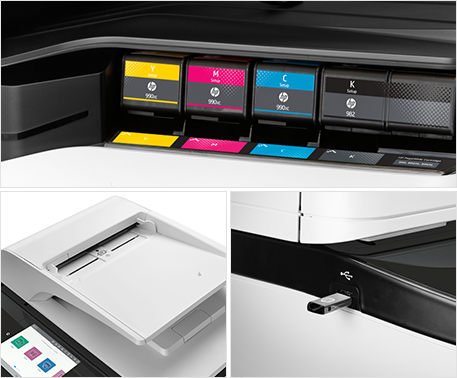 HP PageWide - toner, USB in, top feeder tray