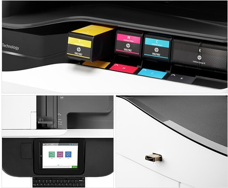 HP A3 PageWide - toner cartridges, top input tray, USB in