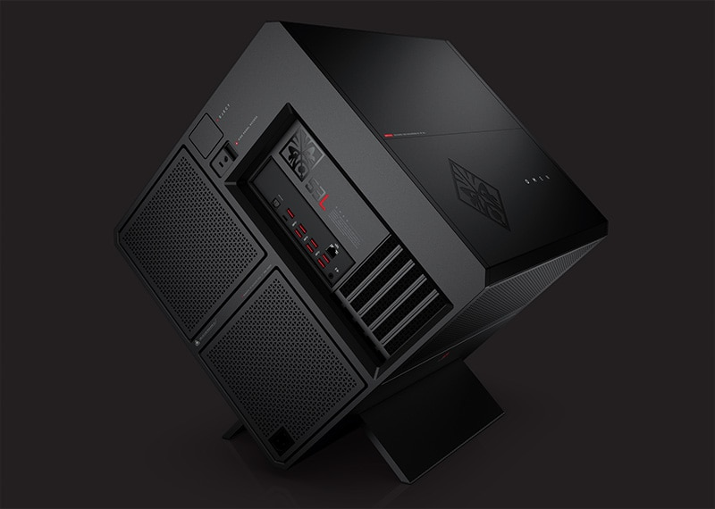 HP OMEN X Gaming Desktop side port view
