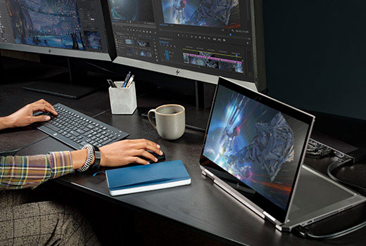 HP ZBook Studio x360 docked mode