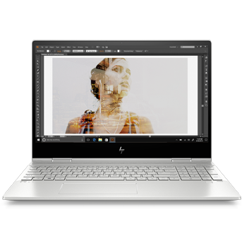 "15"" Intel HP ENVY x360 front view"