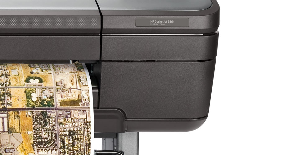Close-up view of the HP DesignJet HD Pro Multifunction Printer