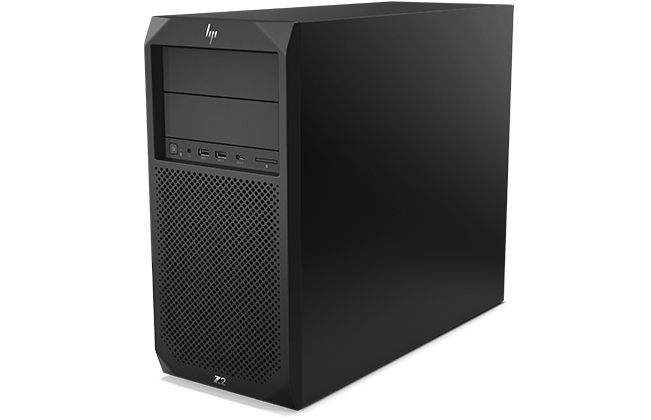 HP Z2 SFF Tower workstation left facing
