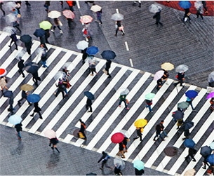 Image of crosswalk with people
