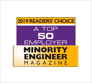 Minority Engineer Magazine Top 50 Employer Magazine Logo