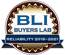 BLI Buyers Lab reliability award logo