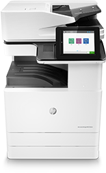 HP Color LaserJet Managed MFP E77822dn, center view, base unit, no paper