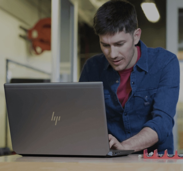 HP Zbook 15 laptop workstation in Product development environment