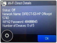 Connect to Wi-Fi Direct network