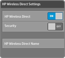 Turn on HP wireless direct