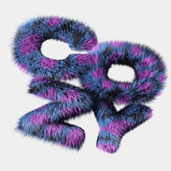 graphic design, word cozy with furry texture