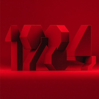 graphic art, 1284 made of red blocks