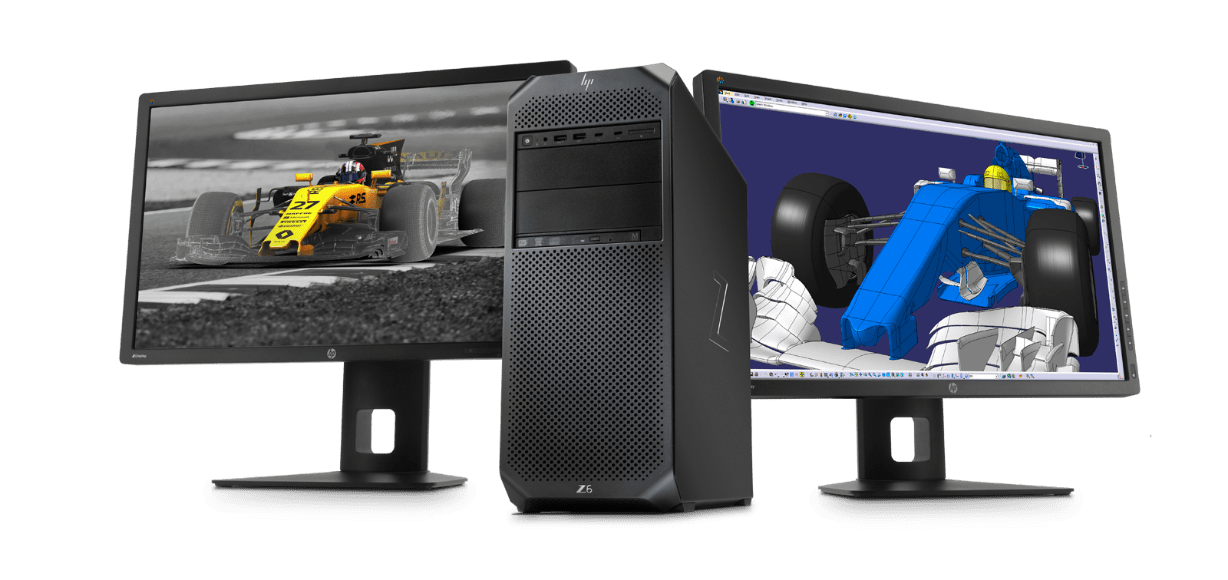 The Z6 desktop with dual monitors