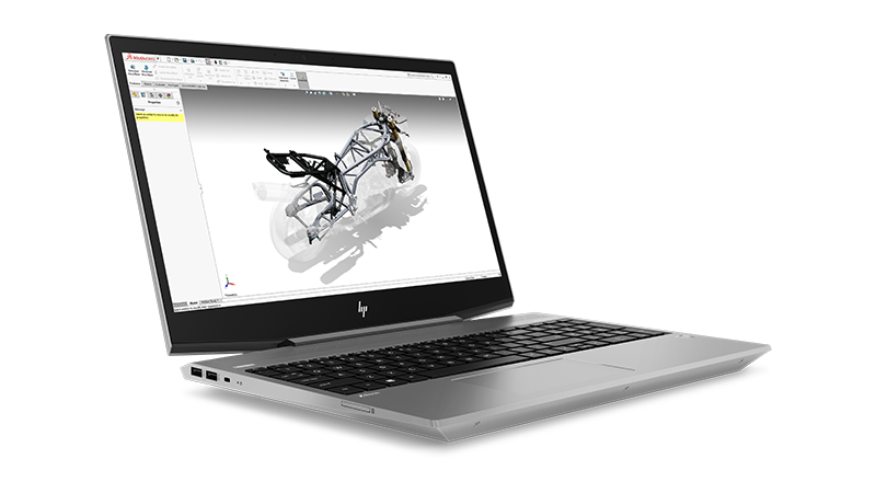 HP ZBook 15v front right