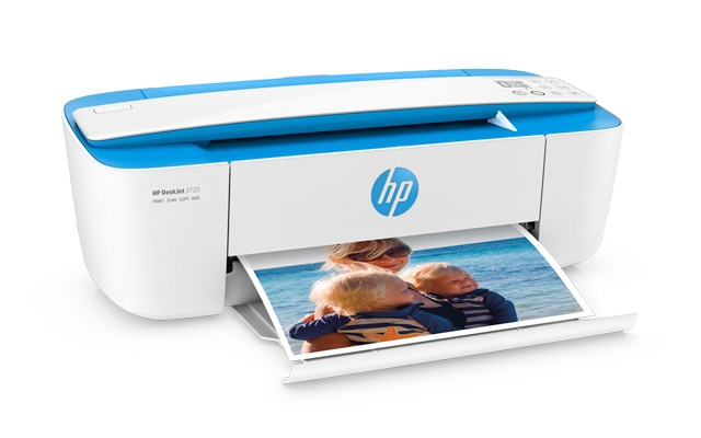 HP DeskJet 3700 Printer printing photos