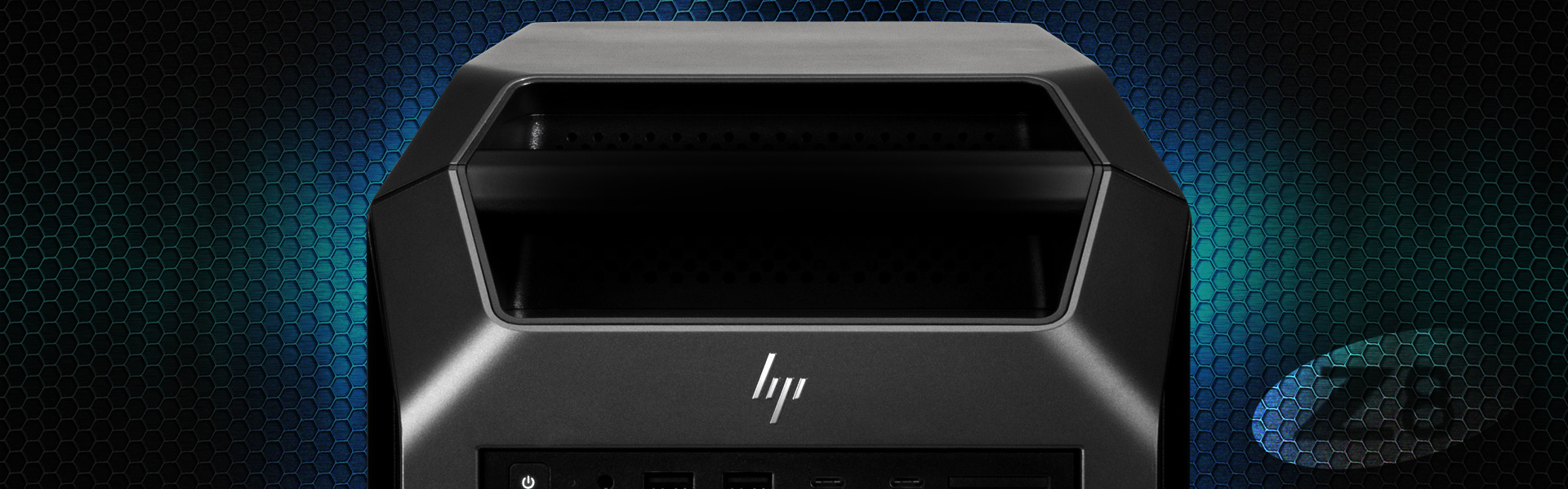 Close-up of HP Z8 Workstation.