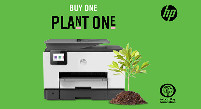Purchase any HP Printer and HP will plant a tree.