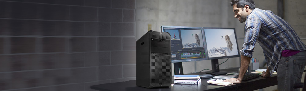 A creative reviews a video using HP Workstation