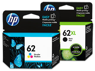 HP 62XL/62 High Yield Black and Standard Tricolor Ink Cartridge Bundle - Img_Center_320_240