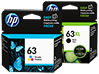 HP 63XL/63 High Yield Black and Standard Tricolor Ink Cartridge Bundle