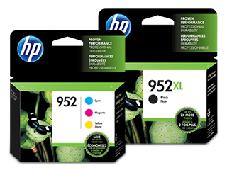 HP 952XL/952 High Yield Black and Standard Color Ink Cartridge Bundle