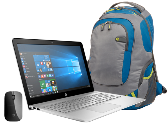 "HP ENVY 15"" Laptop, Backpack + Mouse Bundle - Center"